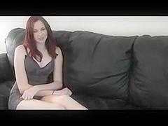 Redhead Scarlett make a self foot worship