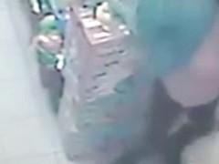 Lady pees CCTV