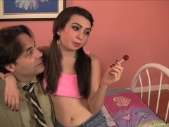 Horny Step Daughter Kat Dior Is Craving Man Ass