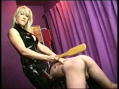 Anal sex in submissive slave femdom video