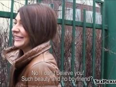 Tight amateur brunette Eurobabe Alexis Brill sex for cash