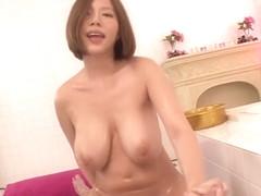 Fabulous Japanese model Ruri Saijou in Incredible Bathroom, Big Tits JAV video