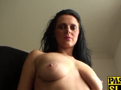 Slut loves to be a filthy slave that will obey her master