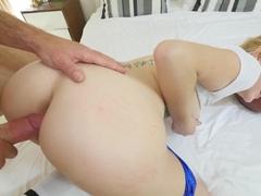 Exotic pornstar Leigh Rose in Horny Blonde, College xxx movie