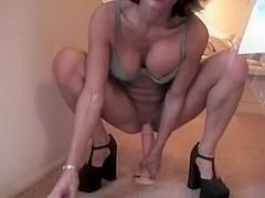 My hot ex GF fucks two sex toys