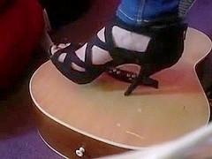 High heels guitar crush