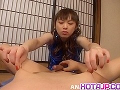 Tomoka Matsunami in lingerie rides masked man face with pussy