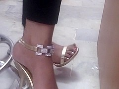 Golden High heels 2