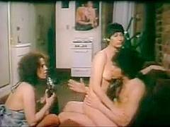FFM threesome sex in a lusty vintage porn