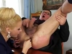 Incredible Slut Blond Blowjob Prostate Cum in Mouth
