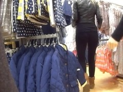 Tight Spandex Ass On Teen Shopper