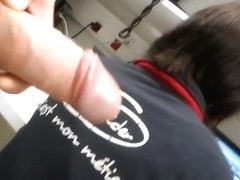 FLASHING BIG DICK AT WORK. MY SEXY COWORKER