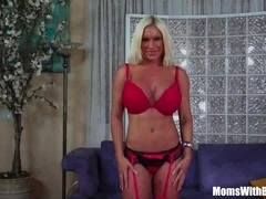 Pussy Fucked Blonde MILF Ashlee Chambers Receives A Facial