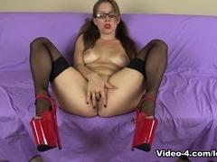 Stockings Heels Pigtails Glasses JOE