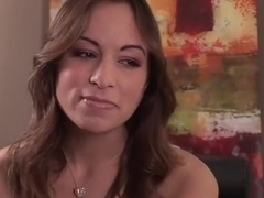Amber Rayne takes a hot black load in her asshole