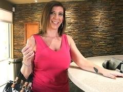 Sara Jay Sucks A Big Black Cock Until It...