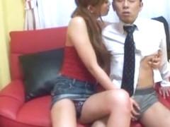 Exotic Japanese girl Leila Aisaki, Chihiro Hara in Hottest Fingering, Handjobs JAV scene