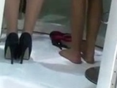 Candid Sexy Nylon Feet and Shoeplay from Hostesses