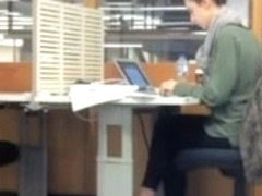 Man flashing his cock to colleague at the working place.