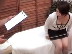 Curvy Japanese gets some fun in voyeur massage video
