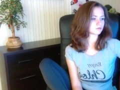 SexyLizka sitting in a chair and fucks herself