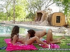Ariana Marie & Cassidy Klein in She Had No Idea We Were Filming Video