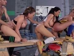 Big Tits In Uniform: Getting Some Satisfaction. Krissy Lynn, Mia Lelani, Romi Rain, Danny D