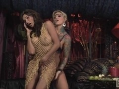 Super titty tranny and chick twosome
