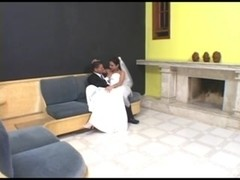 Hot tranny fucks guy from behind after wedding