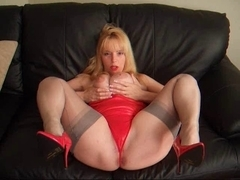 mother I'd like to fuck Lucy UK stocking heel tease