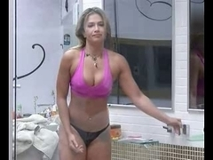 Hot Brazilian TV star masturbates