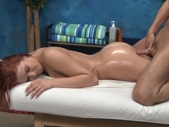 Redhead cutie Abby gets fucked from behind