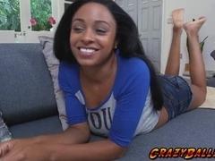 Ebony chick Anya Ivy getting banged