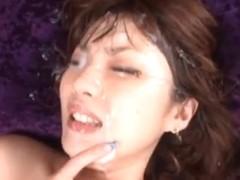 Tsubasa Amami enjoys bukkake madness!