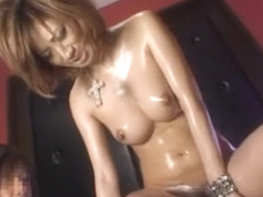Crazy Japanese slut Jyuri Sawaki in Exotic Threesomes, Dildos/Toys JAV video
