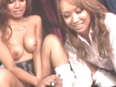 Fabulous Japanese whore LUNA, Marin Minami in Crazy Threesomes, Masturbation/Onanii JAV video