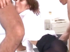 Best Japanese whore Saya Ouka in Hottest Threesomes JAV clip