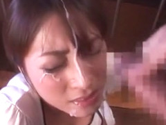 Fabulous Japanese whore Karen Kisaragi in Hottest Blowjob/Fera, Facial JAV movie
