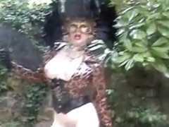 Crazy homemade shemale movie with Dildos/Toys, Outdoor scenes
