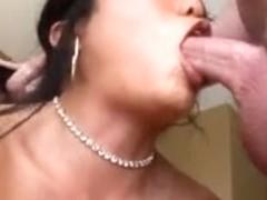 Korean deepthroating specialist facefucked hard