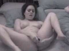 Nightcam catches girl masturbating