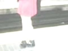 Asian In Skirt & Sandels