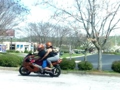 Round Ass On A Motorcycle..