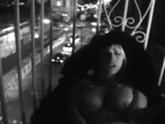 masturbating on balcony
