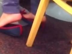 Candid Arab Mother Shoeplay Flats Feet