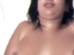 Latina has closeup missionary and doggystyle sex with belly cumshot