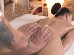 Horny pornstars Wendy Taylor, Thomas J in Crazy Small Tits, Massage sex scene