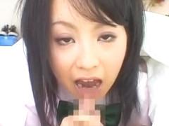 Fabulous Japanese model Hazuki Okita in Hottest Blowjob/Fera JAV scene