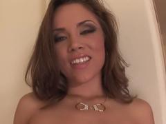 Hottest pornstar Sandra de Marco in horny cumshots, threesome porn scene