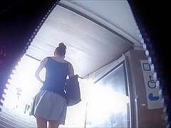 Amatur porn video shows me filming an upskirt clip